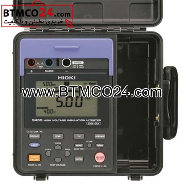تستر عایق ولتاژ بالا , 5 کیلو ولت پرتابل قابل حمل هیوکی مدل HIOKI 3455