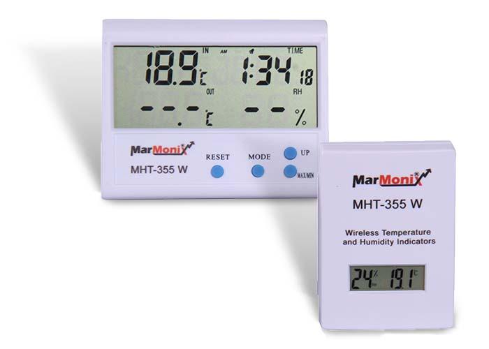 دما و رطوبت سنج محیطی وایرلس مارمونیکس MHT-355 W
